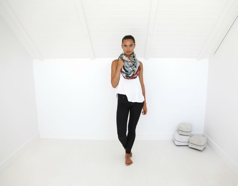Style 2 - How to style your scarf as an infinity loop