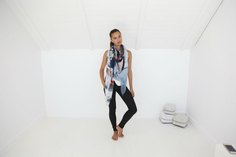 Style 3 - How to stye the giselle wrap scarf style