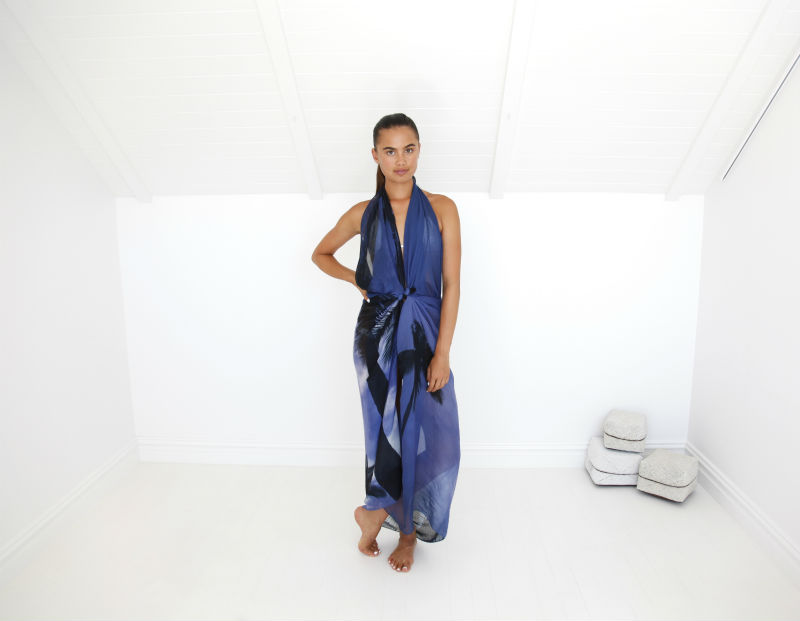 Style 5 - How to style your scarf as a dress - poolside glam