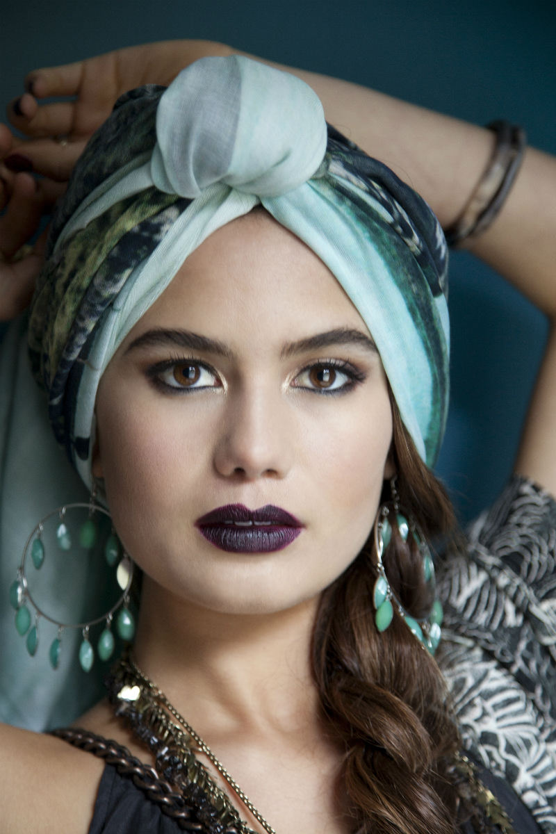 Style 9 - Style your scarf as a headscarf