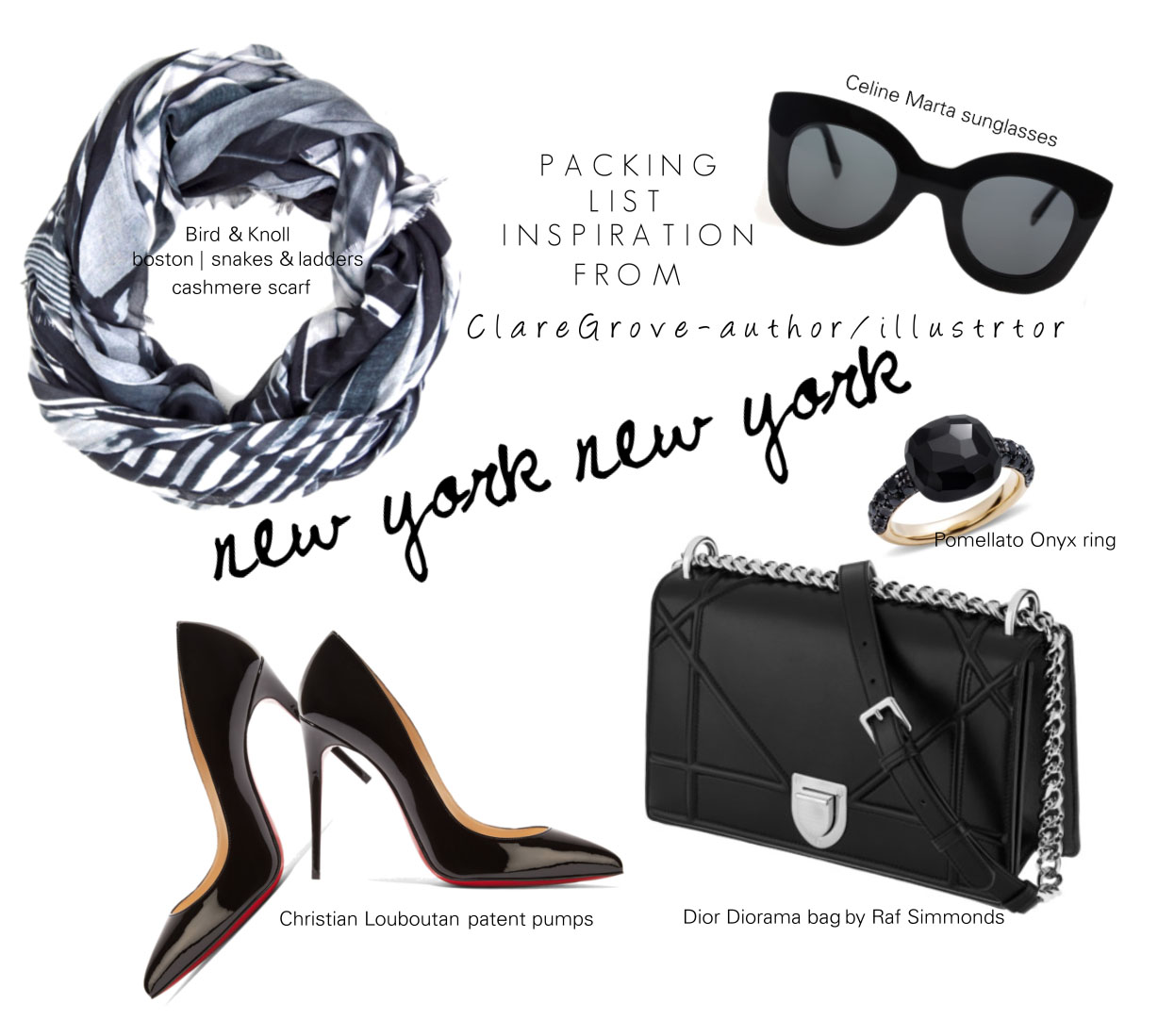 Packing inspiration for New York with fashion illustrator Clare Grove