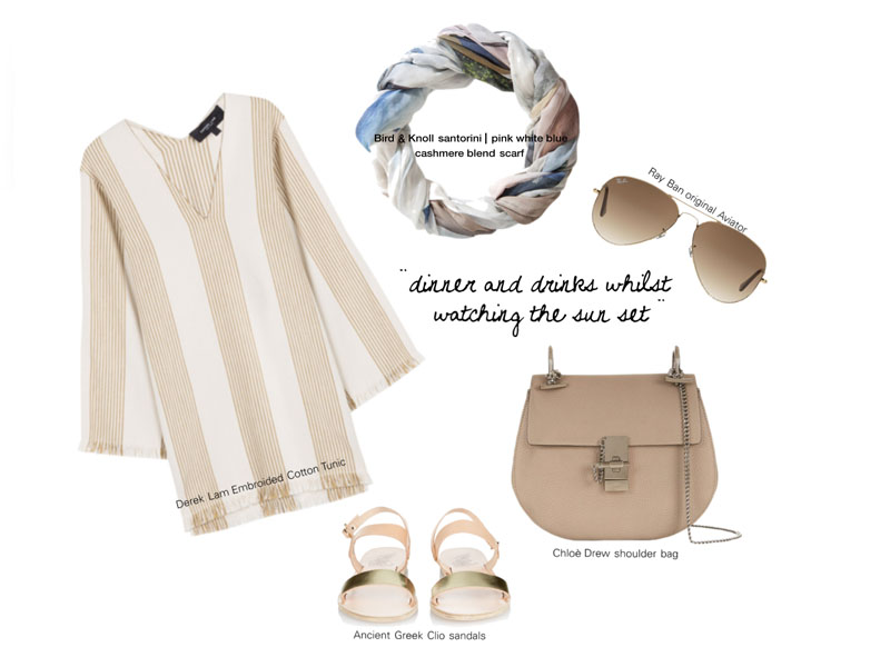 Sunset outfit inspiration for Santorini