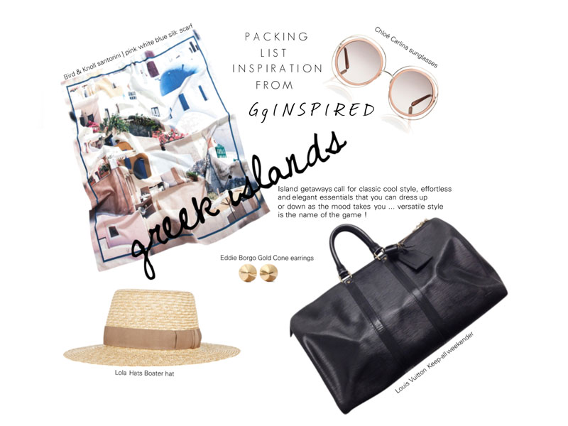 What to pack for Greece by GG Inspired