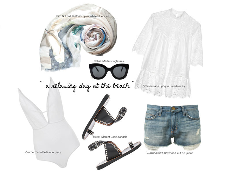 outfit inspiration for a day at the beach on Santorini