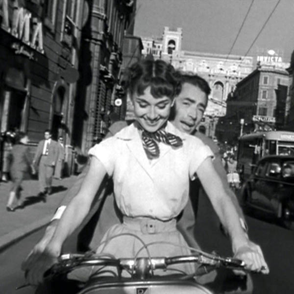 top ten scarf movie moments - Audrey Hepburn in Roman Holiday