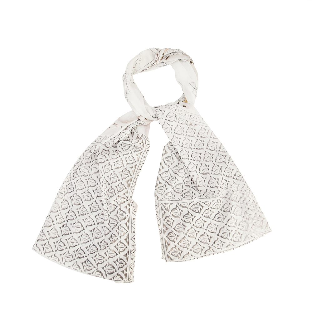 bird & knoll x zoe & morgan medina architectural inspiration cotton headscarf