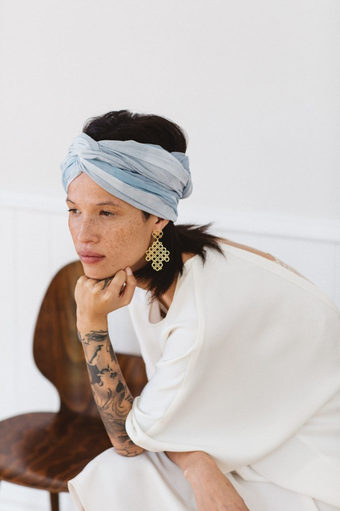 bird and & knoll x zoe & morgan cotton head scarves - aotearoa