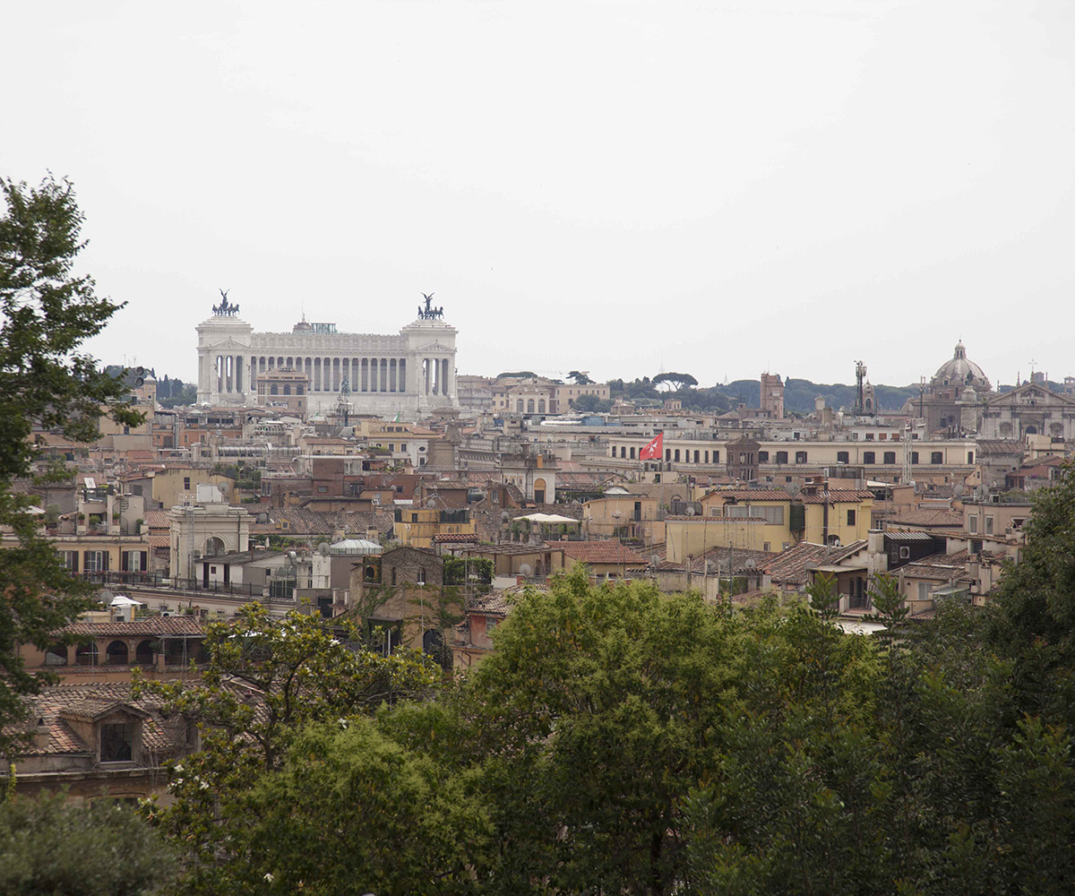 One day in Rome - View from the Villa Borghese