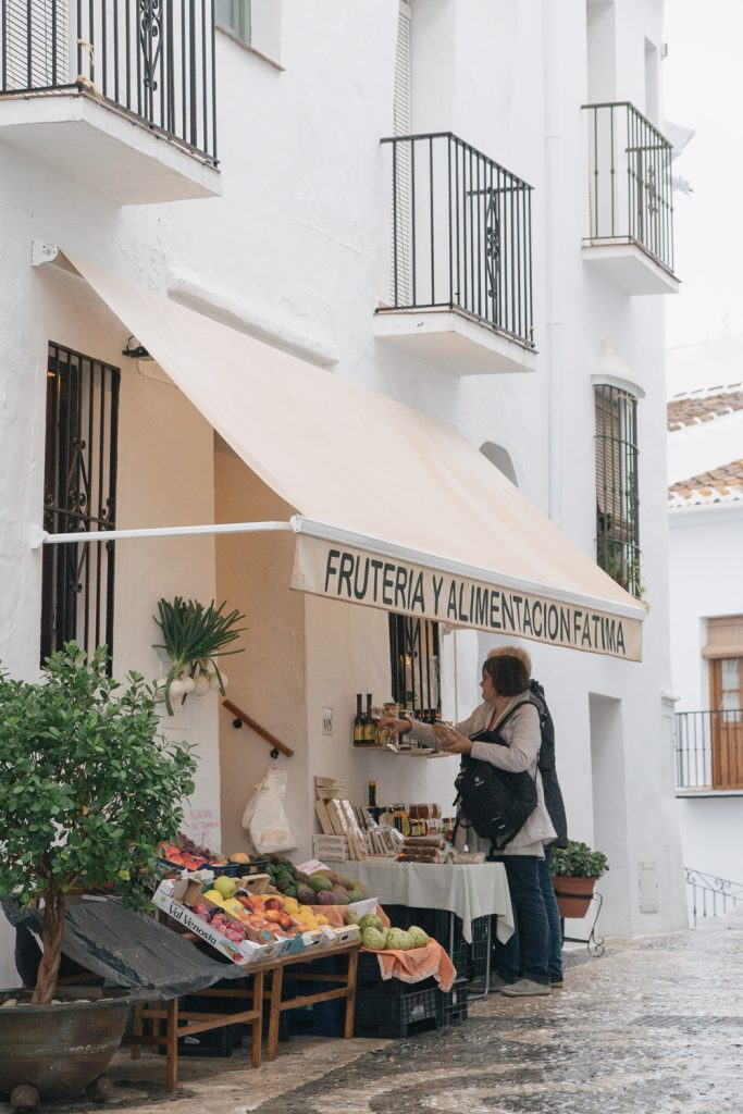 explore southern spain with escape button blog - shopping in frigiliana