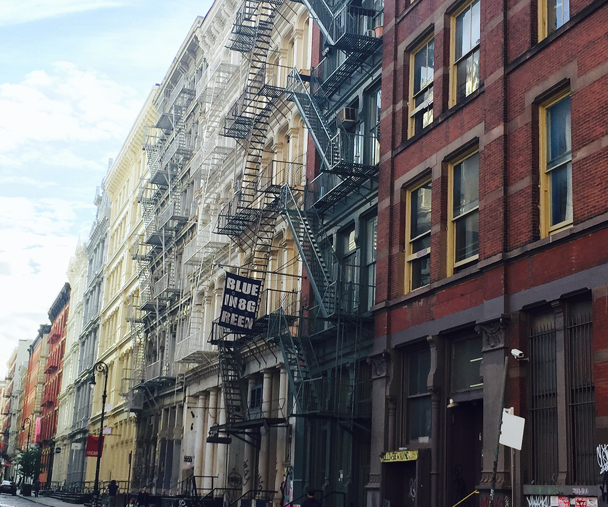 the colourful streets of Soho in New York
